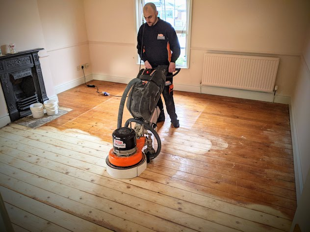 Dustless wood sanding
